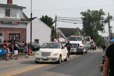 Miss Rain Day Joanna Allen was a participant in the King Coal Show Parade in Carmichaels