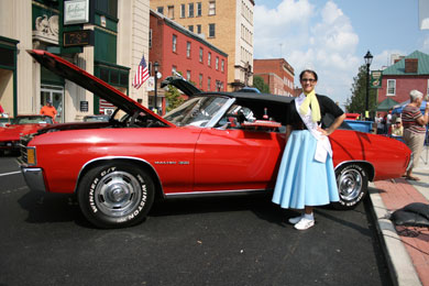 Miss Rain Day - Joann Allen participates in the 10th Annual 50's Fest & Car Cruise