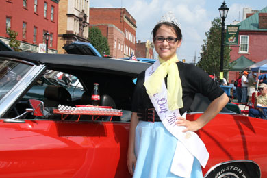 Miss Rain Day - Joann Allen participates in the 10th Annual 50's Fest & Car Cruise in downtown Waynesburg sponsored by Waynesburg Prosperous & Beautiful on Saturday, September 10, 2011
